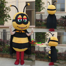 Bee Mascot Costume Honeybee Cosplay Suit Outfit Parade Unisex Party Dress Animal