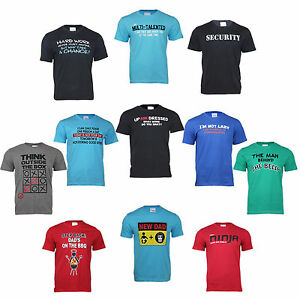 New Decent, Funny and Humorous Summer Cotton T-Shirts for Gift or Self Statement