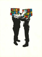 Hijack Puzzled Silkscreen Print Poster Signed Numbered x/45 Mr Brainwash son