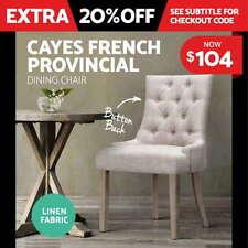 Modern Wood & Fabric Chairs