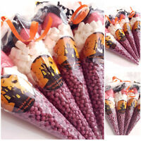 Personalised Halloween Pre Filled Sweet Cones Halloween Kids Party Bags Birthday