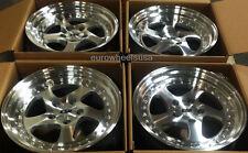 """17"""" ESR SR02 Machined Wheels Set 5x114.3 17X9.5 +30 Deep Dish Rims Set 4"""