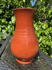 A large Qing dynasty Chinese Qianlong mark coral glazed vase