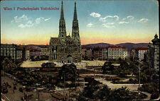 Wien I alte Color Postkarte ~1910 Partie am Freiheitsplatz mit der Votiv Kirche