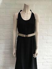 Givenchy paris soie noire sans manches robe dos nu taille f 42 uk 14 us 10 lbd