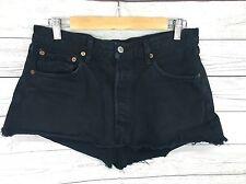 Women's Levi 501 Reworked Denim Skirt - W33 - Black - Great Condition