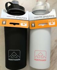 **28 oz BLACK Nathan Easy Shot Premium Sport Hydration Bottle Soft Silicone Grip
