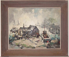 Listed American Artist John Hare, Original Oil Painting On Canvas Sined