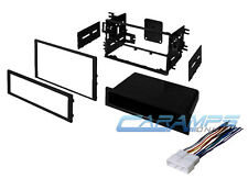 CAR STEREO RADIO DASH INSTALLATION MOUNTING TRIM BEZEL KIT WITH WIRING HARNESS