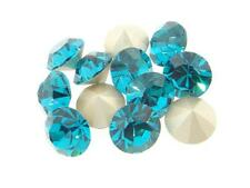Preciosa Foiled Back Chatons 11mm 47ss Blue Zircon 12 Pieces cc