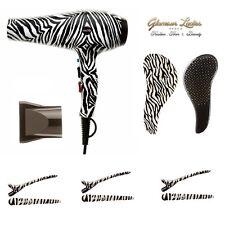 Navidad Zebra secador de pelo, clips de pelo. Mane enredo Domador De Pelo Profesional De Regalo
