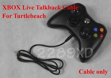 New XBOX TALKBACK CABLE 4 TURTLE BEACH Sierra X-ray Kilo LIVE CHAT 2.5mm