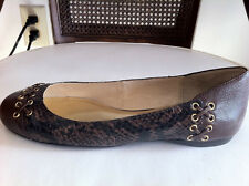 Michael Kors Astor Women's Snake Leather Ballet Ballerina Flats Loafers Shoes