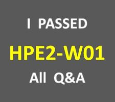 I Passed 105 Q&A Selling Aruba Products and Solution Test HP2-W01 HPE2-W01 Exam