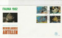 Netherlands Antillen 1982 Fauna Fish Slogan Cancel FDC Stamps Cover Ref 25209