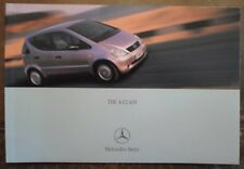 MERCEDES BENZ A CLASS 2000 UK Mkt Prestige Sales Brochure -A140  A160 A170 A190