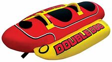 AIRHEAD HD-2 Hot Dog Double Rider Towable Inflatable Boat Lake Tube 1-2 Person