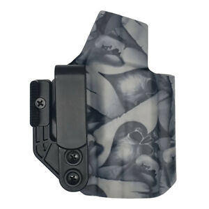 Glock 26/27/33 Gen 3-5 | IWB Kydex Holster | Ace of Spade Skull Pattern