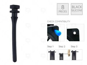 8 x BLACK REAL Silicone Mounting Screws/Rubber/Case/Fan Anti-Vibration Damp