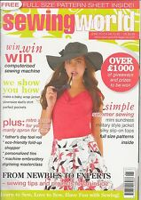 Sewing World Magazine, incl. full size pattern sheet,  June 2010