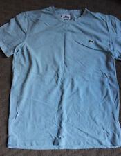 MEN'S CLOTHING - LACOSTE FRENCH DESIGNER BABY BLUE WAFFLE T-SHIRT MEDIUM SIZE 3