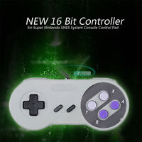NEW Controller 16 Bit for Super Nintendo SNES System Console Control Pad