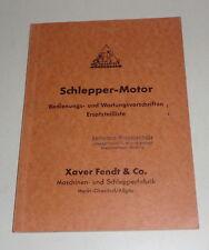 Betriebsanleitung + Teilekatalog Fendt Dieselross Schlepper Stand 10/1950