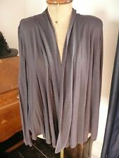 H&M Ladies Long Sleeve Charcoal Grey Summer Waterfall Cardigan M