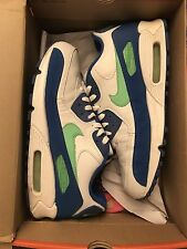 "Nike Air Max 90 ""AM90""  White/Blue/Sapphire sz. 10 Supreme HUF Dunk UNDFT AF1"