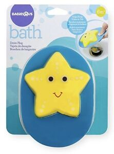 Babies R Us Bath Drain Plug.  Yellow Star Fish