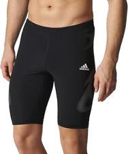 Adidas AdiZero SprintWeb Mens Short Running Tights - Black