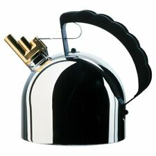 Alessi Stovetop Stainless Steel Kettle with Melodic Whistle 1L - (Silver) B+