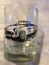 Vintage 1955 Ford Thunderbird Car Drinking Glass Barware Tumbler 12 Oz