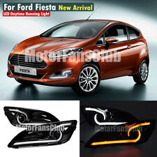 New LED Daytime Running Light For Ford Fiesta DRL Fog 2013 2014 2015 Turn Signal