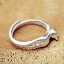 Elegant Animal Design Open Hot Adjustable Wedding Jewelry Ring Kitten Cat