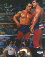 Dynamite Kid The British Bulldogs Autograph Pre Print Wrestling Photo 8x6 Inch