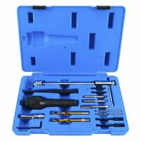 Damaged Glow Plug Removal Remover Tool 16pc Damage Extractor Tool Kit 8MM/10MM