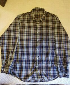 Martin Gordon Mens Large Button front Shirt Plaid Great Condition