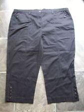 Cotton Blend Machine Washable Plus Size Capris, Cropped Pants for Women