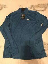 Nike Running Long Sleeve 1/4 ZIP Fitted (Pale Blue) 833595 457