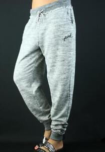 Victoria's Secret PINK Classic Jogger Sweat Pants Fleece Marl Gray NWT