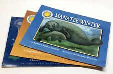 Three SMITHSONIAN INSTITUTION Walrus, Pelican, Manatee OCEANIC Books! FREE S/H!