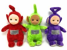 Teletubbies SET OF 3 Official TALKING Soft Toys - DIPSY, Tinky Winky & PO NO TAG