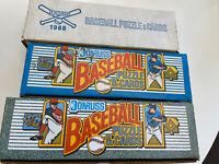 1988 1989 1990 Donruss Baseball Factory Sealed Sets BONDS, BO and GRIFFEY
