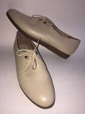 Women's Rockport Savannah Casual Beige Leather Shoes Oxfords Size 8.5 N EUC