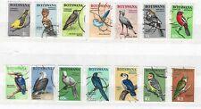 1967 BOTSWANA BIRDS DEFINITIVE SET FINE USED *