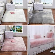 Shaggy Fluffy Rugs Anti-Skid Soft Mat Area Hairy Rug Room Bedroom Floor Carpet