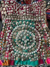 Turkoman Turkmen Afghan Kutchi Ethnic Tribal Childs Dress Cowries Metal Applique