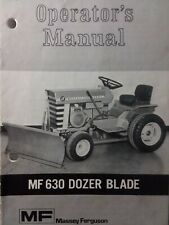 Massey Ferguson MF-10 MF-12 14 Garden Tractor Implement Dozer Blade Owner Manual