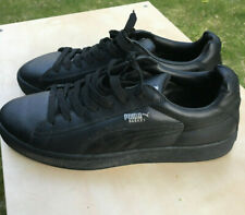 PUMA Basket Classic Low Top Sneakers Trainers, Black Leather Size 12